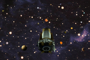 Ilustrácia vesmírneho ďalekohľadu Kepler. V utorok 30. októbra NASA oznámila, že teleskopu došlo palivo.