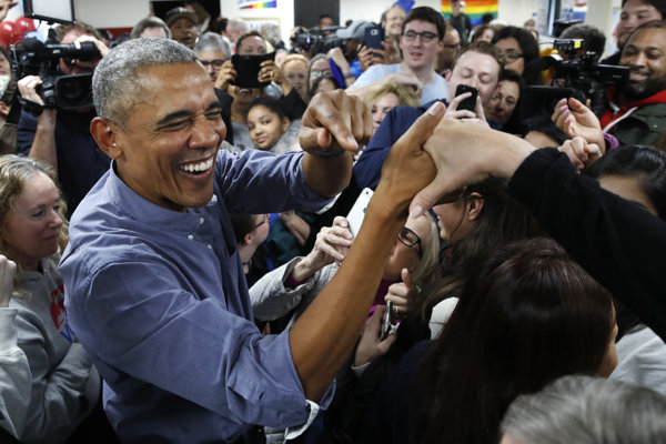 Obama podporil demokratov na viacerých podujatiach.