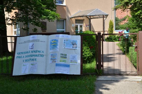 Gemerská knižnica v Rožňave. FOTO: PP