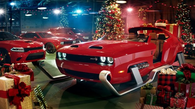 Dodge Challenger Hellcat sleigh
