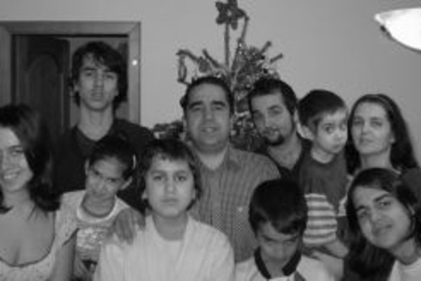 Alfons Juck s rodinou