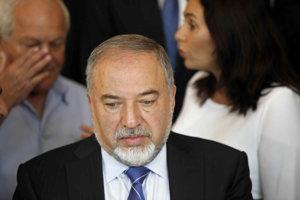 Izraelský minister obrany Avigdor Lieberman.