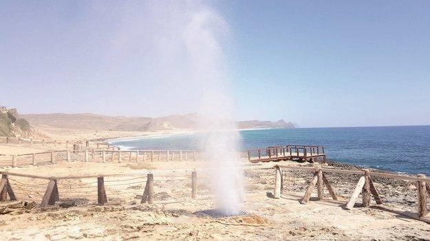 Gejzír na pláži Al Mughsayl