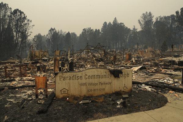 Požiar v severnej Kalifornii má už 76 obetí