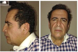 Na kombosnímke z 1. októbra 2014 je šéf mexického drogového kartelu Héctor Beltrán Leyva.