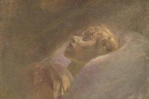 Obraz Podobizeň mŕtveho dievčaťa od Ladislava Mednyánszkeho.