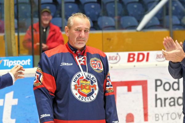 Zvolenská legenda - Roman Čunderlík. Pri príležitosti 60. narodenín dostal bývalý gólman od HKM dres s číslom 60.