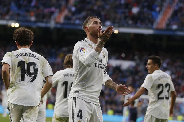 Sergio Ramos z Realu Madrid.