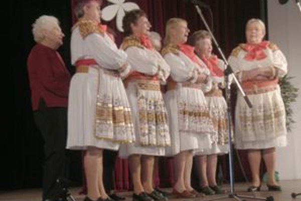 Účinkujúci. Na prehliadke sa predstavili aj speváci zo Zliechova.