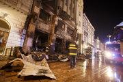 Takto vyzeralo Roland café na Hlavnom námestí v Bratislave po požiari 28. novembra 2018.