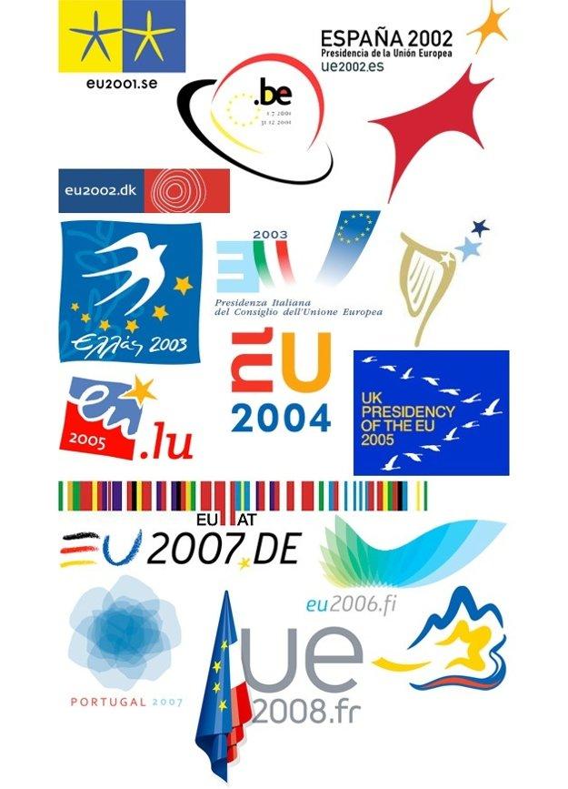 Logá niektorých krajín, ktoré predsedali Rade Európskej Únie po roku 2000.