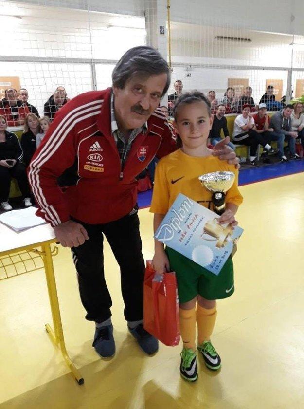 Ladislav Németh s Karolínou Ďatkovou, ktorá na turnaji oslávila svoje desiate narodeniny.