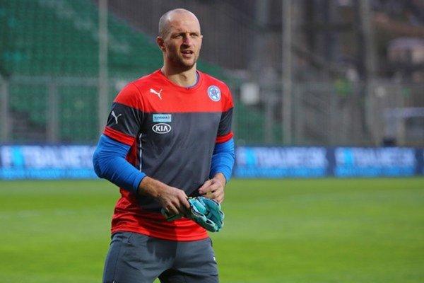 Ján Mucha počas reprezentačného tréningu.