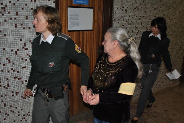 Kateřina s eskortou na košickom súde.