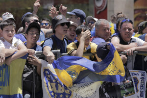 Fanúšikovia argentínskeho klubu Boca Juniors.