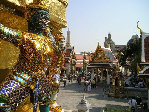 Najnavštevovanejšie miesta v Bangkoku sú chrámy.