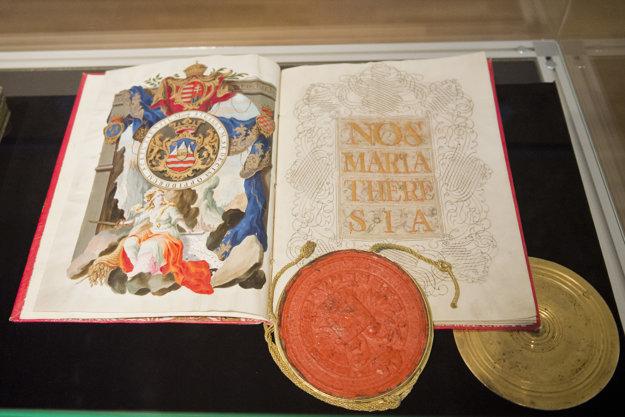 Armádna listina vydaná Máriou Teréziou.