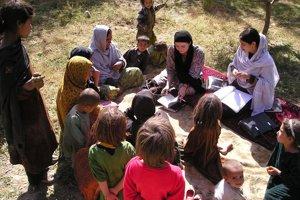 Petra Procházková v Afganistane.