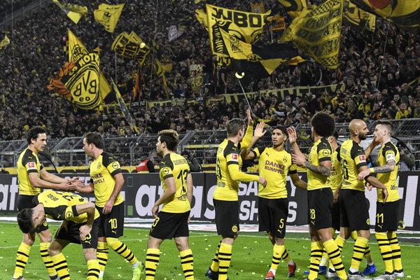 Futbalisti Borussie Dortmund.