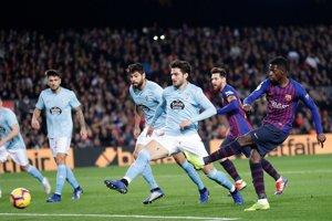 Momentka zo súboja FC Barcelona - Celta Vigo.