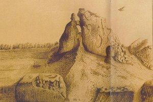 Kresba Púchovskej skaly od baróna Hoenninga.