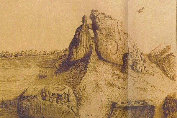 Kresba Púchovskej skaly od baróna Hoenninga