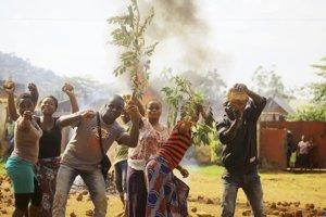Demonštranti v meste Beni.