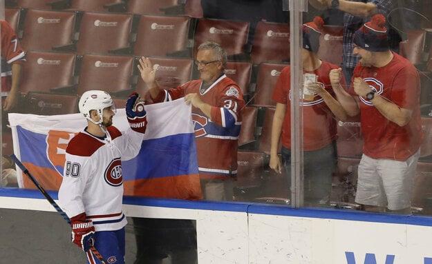 Tomáš Tatar v drese Montreal Canadiens.