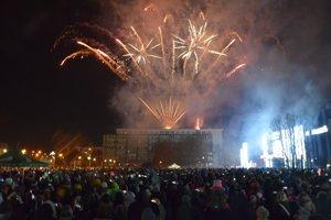 Novoročný ohňostroj v Lučenci