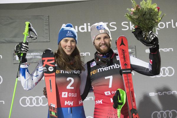 Petra Vlhová a Marco Schwarz.