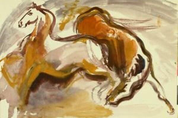 """Hovorí sa, že najťažšie je nakresliť koňa. Ivanove kone boli na papieri živé. Pozoroval ich, jazdil na nich, delil sa  s nimi o kúsok chlebíka. Pri kreslení mu nešlo iba o ich stavbu tela, on vnímal ich dušu,"""" povedala  S. Očenášová-Štrbová."""