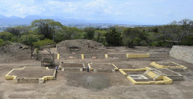 Archeologické nálezisko chrámu boha Xipe Toteca.