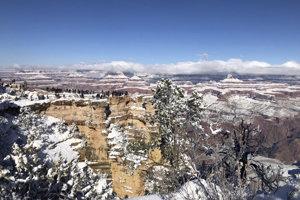 Teploty v parku Grand Canyon boli nižšie než v aljašskom meste Anchorage.