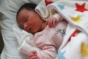 Alžbeta Palčeková (3795 g, 52 cm) sa narodila 24. decembra Simone a Petrovi z Košece.