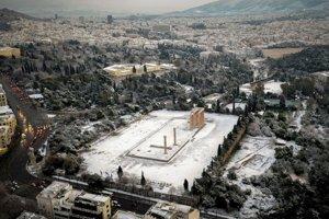 Chrám Dia Olympského v Aténach.