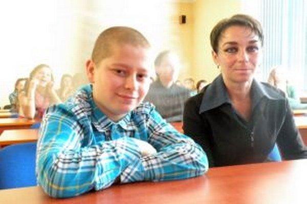 Filip Orel s mamou.