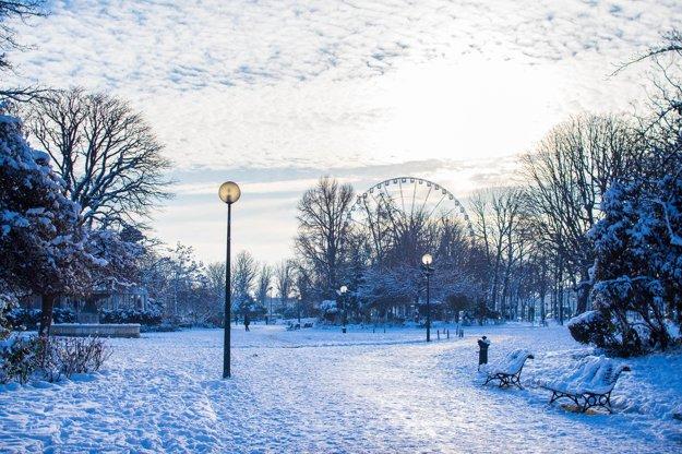 Zima v Paríži.
