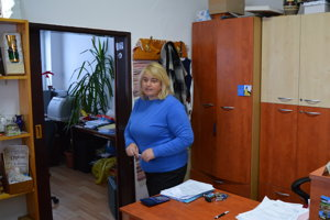 Ľubica Džuganová (KDH) na obecnom úrade v obci Tichý Potok (okres Sabinov).