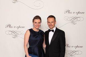 Richard Marko, generálny riaditeľ ESET s manželkou Luciou Markovou
