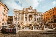 Počas jarných prázdnin sú v Ríme príjemné teploty a málo ľudí.