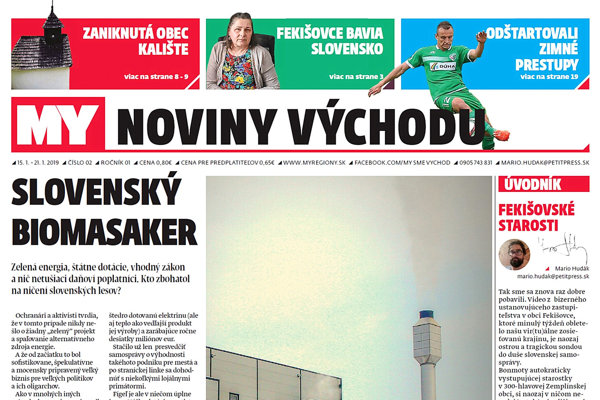 MY noviny východu píšu o ničení slovenských lesov aj Fekišovských starostiach. (ZDROJ: REDAKCIA)