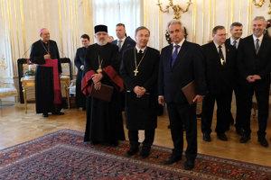 Cirkevníci u prezidenta Kisku
