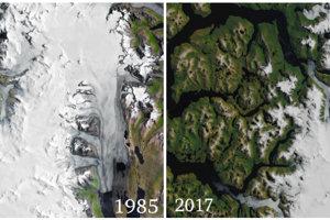 Čílsky ľadovec HPS-12 stratil za tri desaťročia takmer polovicu svojej dĺžky.