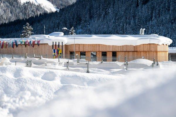 Kongresové centrum v švajčiarskom Davose, kde sa uskutoční Svetové ekonomické fórum.