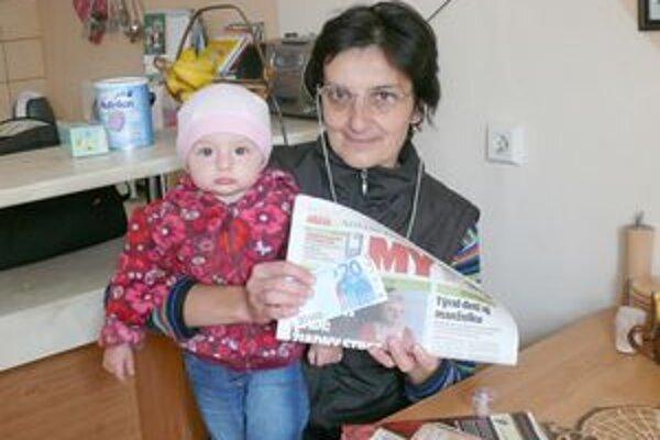 Babka s vnučkou. Andrejka je jej potešením.
