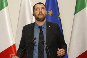 Taliansky vicepremiér a minister vnútra Matteo Salvini.