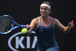 Dominika Cibulková počas prvého kola na Australian Open 2019.