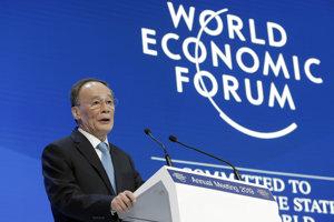 Čínsky viceprezident Wang Čchi-šan.