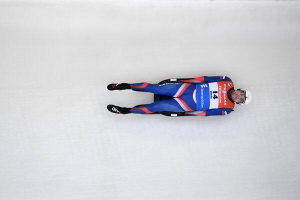 Slovenský sánkar Jozef Ninis v pretekoch Svetového pohára 13. januára 2019 v lotyšskej Sigulde - ilustračná fotografia.