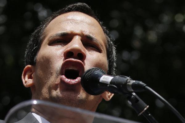 Venezuelský opozičný líder Juan Guaidó.